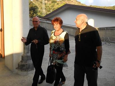 Orietta Berti in visita all' Opera Madonna dello Scoglio
